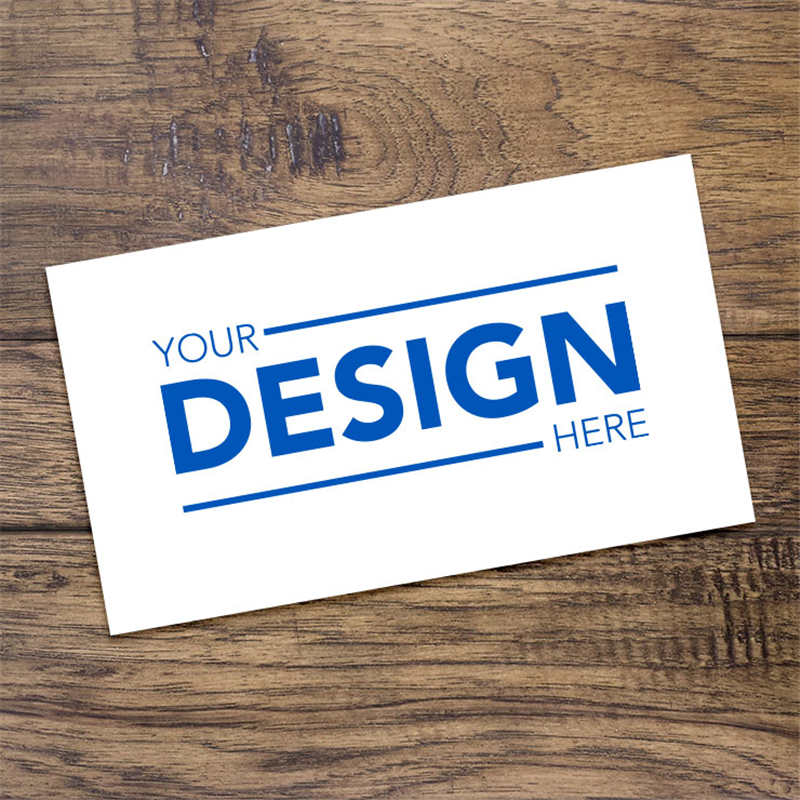 Single Sided Business Card Design Your Own Mcneil Printing In