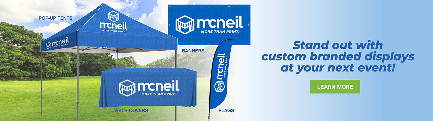 Custom branded event displays
