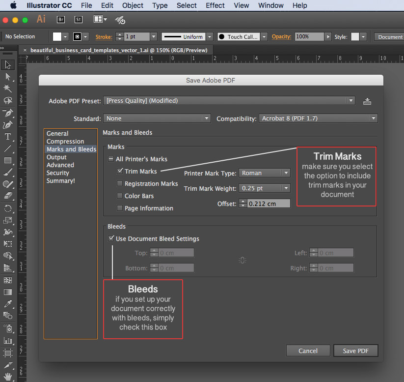Exporting, Packaging or Saving Your File for Print | McNeil