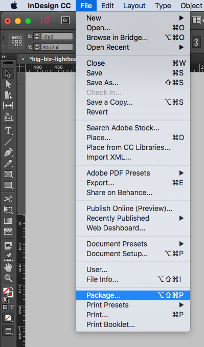 Exporting, Packaging or Saving Your File for Print   McNeil