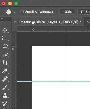 Photoshop Canvas with Bleeds