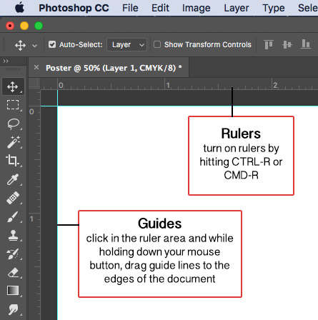 Drag Guide Lines in Photoshop