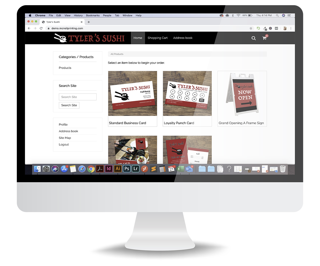 online print portal for fulfillment services