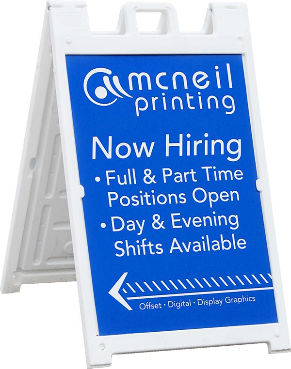 A-Frame Sign from McNeil Printing