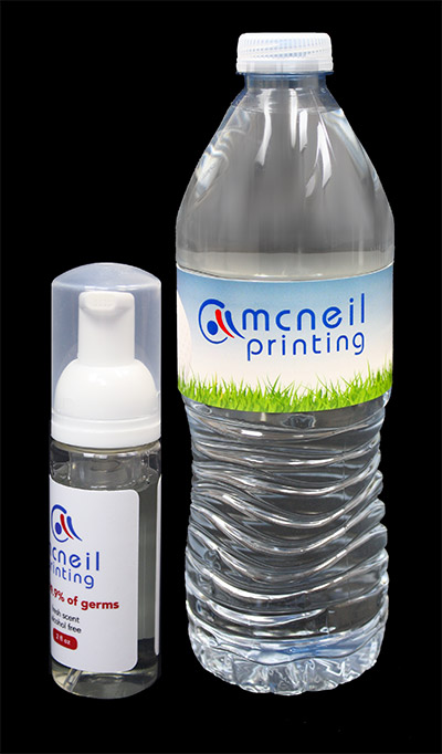 Custom Water Bottle Labels from McNeil Printing