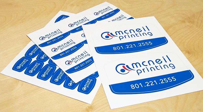 Custom stickers from mcneil printing in utah valley
