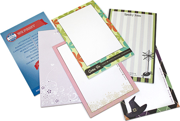 Custom Notepads from McNeil Printing in Orem Utah